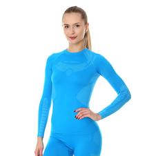 Brubeck Dry damska koszulka termoaktywna długi rękaw niebieska