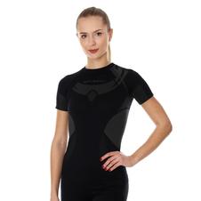 Brubeck Dry damska koszulka termoaktywna krótki rękaw czarna
