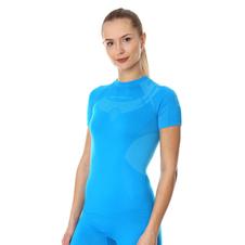 Brubeck Dry damska koszulka termoaktywna krótki rękaw niebieska