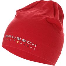 czapka z wełną Merino Brubeck Active Wool burgundowa