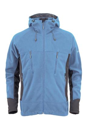 MILO YUKO - męska wiatroszczelna kurtka polarowa, niebieska