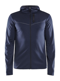 męska bluza z kapturem Craft Eaze Sweat Hood Jacket granatowa
