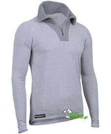 męska termoaktywna koszulka z rozpinanym golfem Berkner Action szara