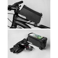 Roswheel Essentials torebka rowerowa na ramę z etui na telefon
