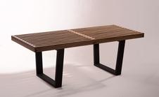 George Nelson Bench black - rustic ława, stolik.