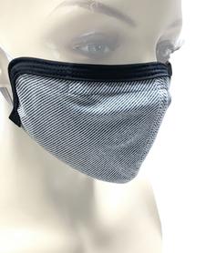 Maska zabezpieczająca z materiału z jonami srebra Berkner szara
