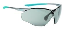 okulary sportowe Alpina Splinter VL titan-cyan szkła czarne S2-3