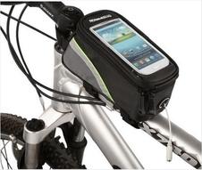 Roswheel torebka rowerowa na ramę z etui na telefon czarny/zielony