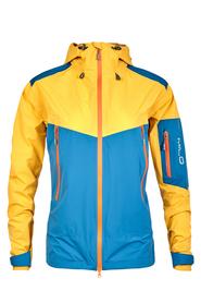MILO ZACATE - męska kurtka żółty/niebieski