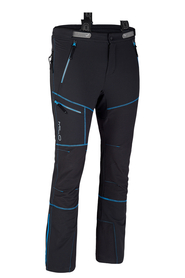 męskie spodnie trekkingowe Milo Lahore Pants czarne/niebieskie