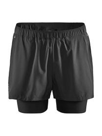 Craft ADV Essence 2 in 1 Stretch Shorts- męskie krótkie spodnie czarne