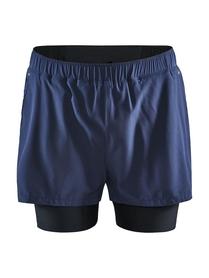 Craft ADV Essence 2 in 1 Stretch Shorts- męskie krótkie spodnie granatowe