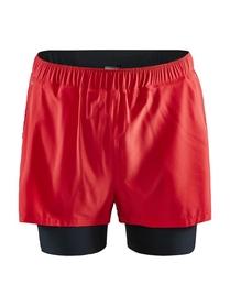Craft ADV Essence 2 in 1 Stretch Shorts- męskie krótkie spodnie czerwone