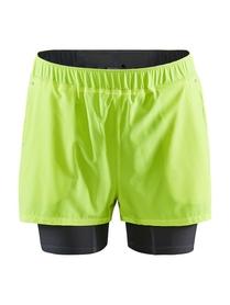 Craft ADV Essence 2 in 1 Stretch Shorts- męskie krótkie spodnie żółte