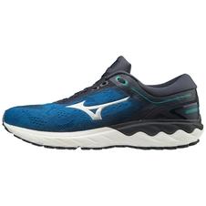 Mizuno Wave Skyrise - męskie buty do biegania - czarny/niebieski