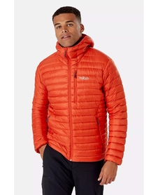 Kurtka puchowa męska Rab Microlight Alpine pomarańczowa