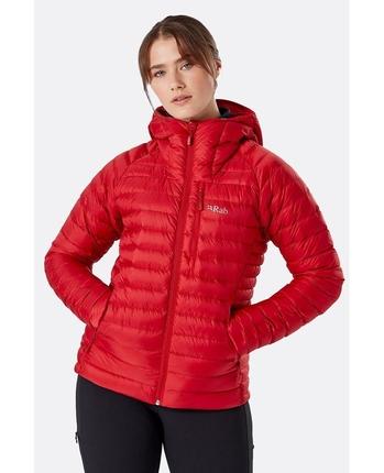 Kurtka puchowa damska Rab Microlight Alpine Jacket czerwona