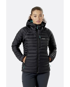 Kurtka puchowa damska Rab Microlight Alpine Jacket czarna