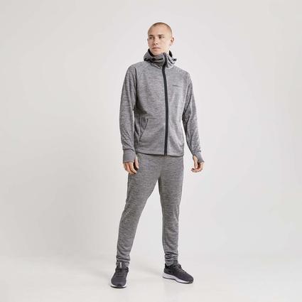 Craft Charge Tech Sweat Hood Jacket - męska bluza z kapturem szara